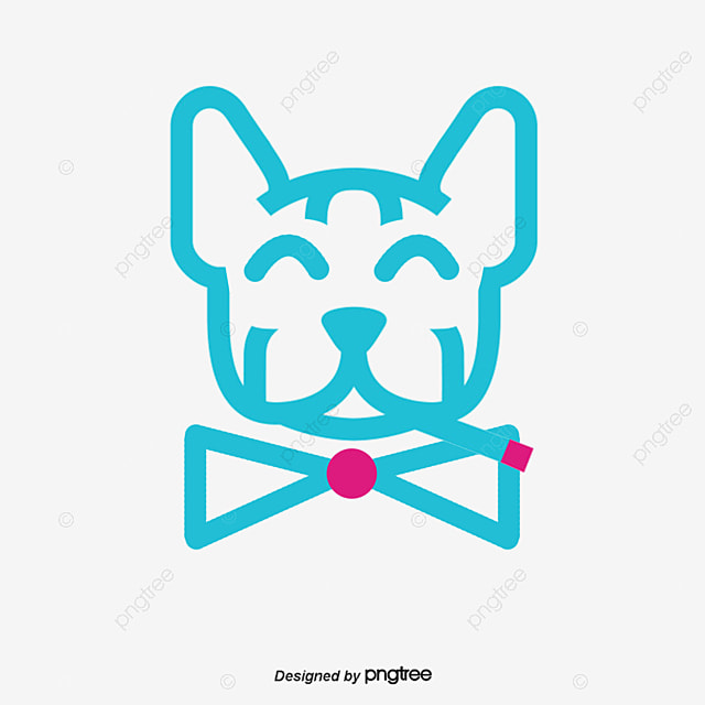 Cute cartoon puppy puppy graphics puppy creative line drawing puppy png and psd