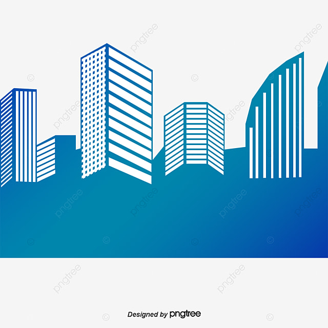 blue city building city building modern buildings blue building rh pngtree com victor building dc vector building silhouette