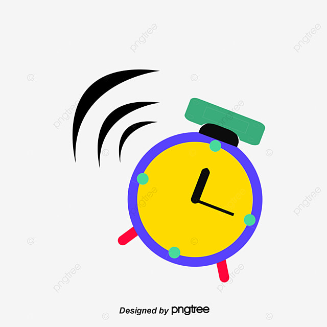 get up vector alarm clock girl morning png and vector for free