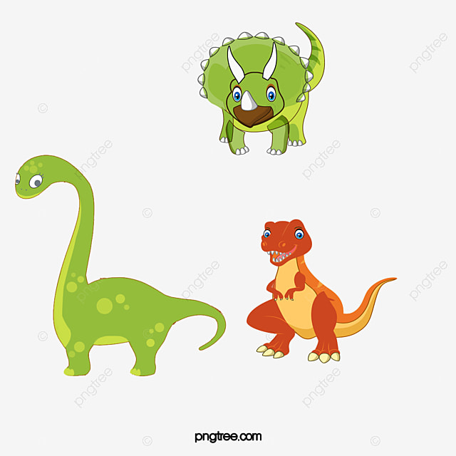 Vector De Dibujos Animados De Colores Dinosaurio Cartoon Vector ...
