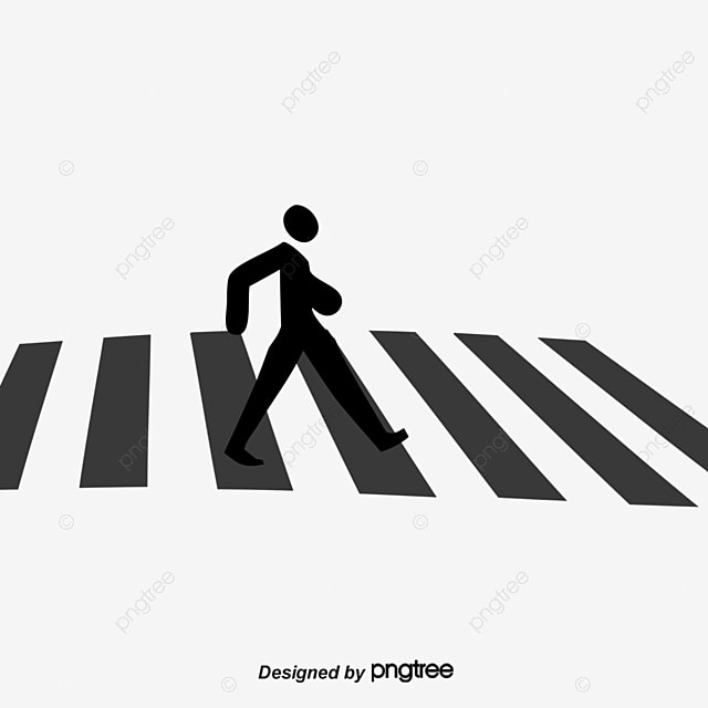 Line Drawing Of Zebra Crossing : Silhouette pedestrian crossing the road cross