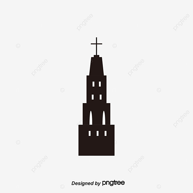 Black Church Gothic Vector PNG And