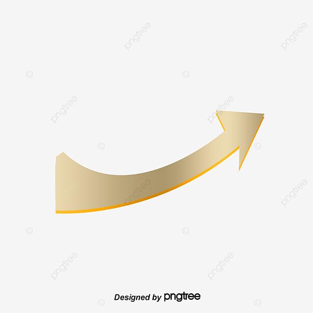 Arrow png Vector material, Arrow, Upward Arrow, Golden PNG