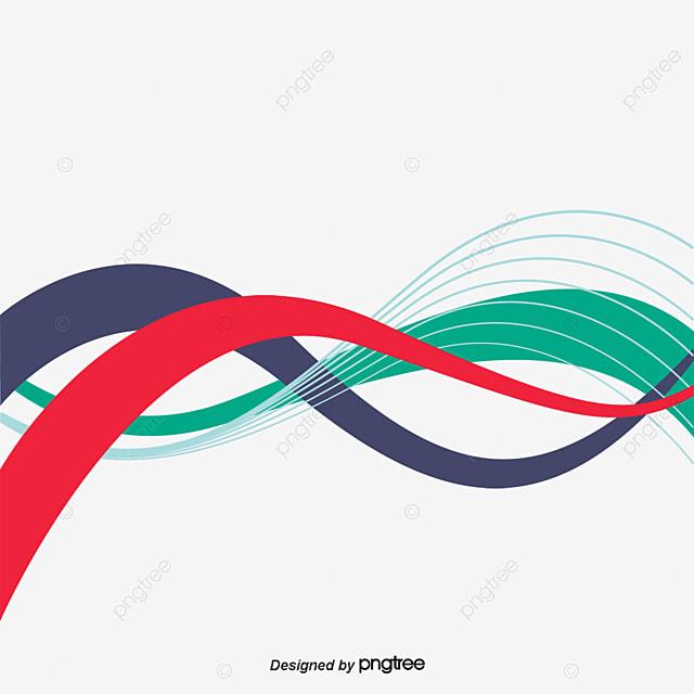 Lineas De Color Background Vector Rojo Ola Líneas PNG Y
