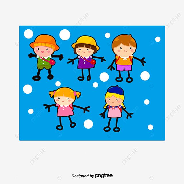 Le vecteur de l enfance heureuse dessins d enfants un groupe d enfants mignon png et vecteur - Dessin groupe d enfants ...