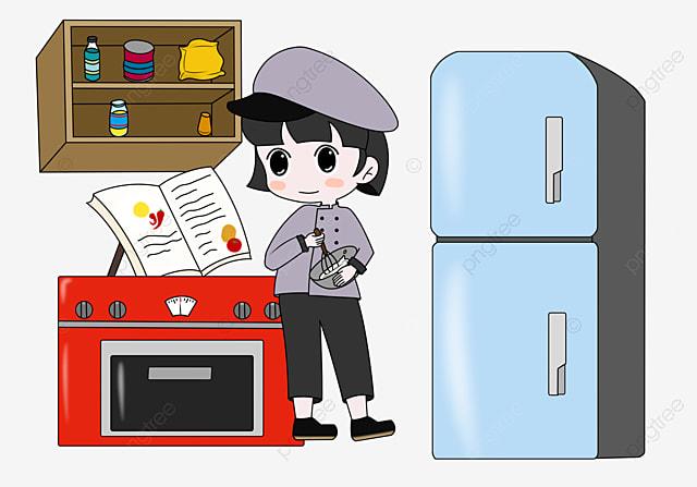 Ilustración De Dibujos Animados De Arte Cocinero Chef