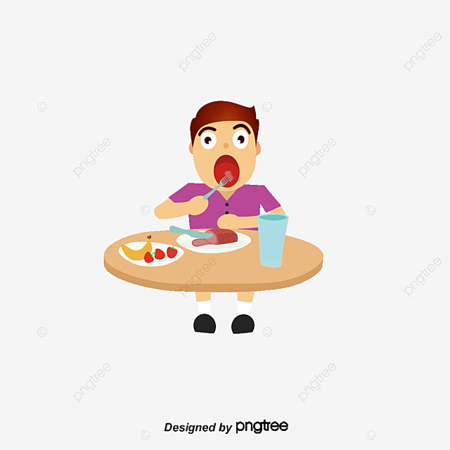 The Boy Is Eating Eat Cartoon Vector Character Png And Vector For