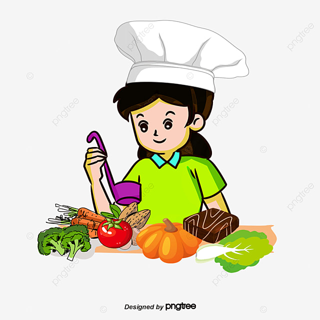 Free Stock Vector People Kitchen Cooking Character PNG And