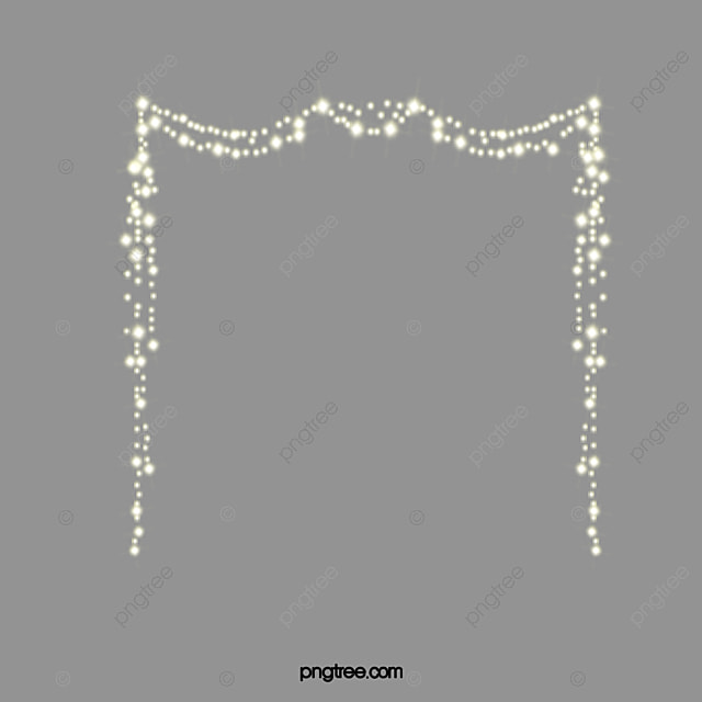 Wire Border, Golden, Light Yellow, Light PNG Image