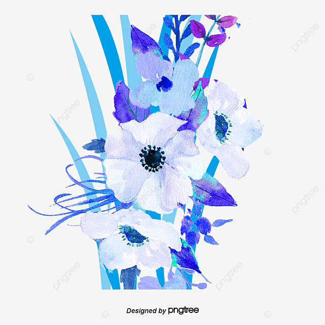 Book Cover Design With Flowers ~ Cartoon azul narcisos material de antecedentes