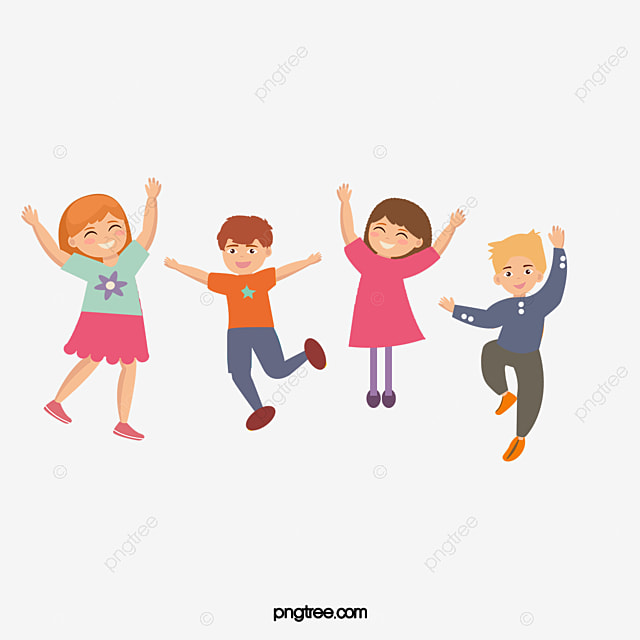 happy kids cartoon pictures jump lively photograph png image and rh pngtree com happy kids clip art pictures Happy People Clip Art