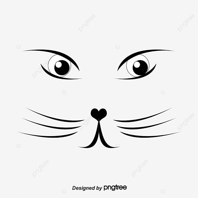 cute cat face vector material painted cat face cute vector cat