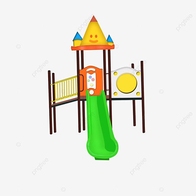 Les enfants jouent la planche de glisse enfants toboggan - Dessin de toboggan ...