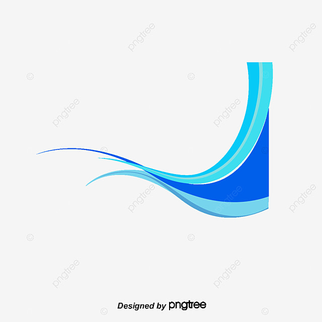 vector blue wave decoracion olas material decorativo blue