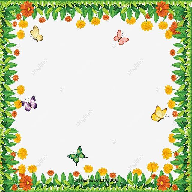 Vector Butterfly Border Vector Butterflies Frame Png