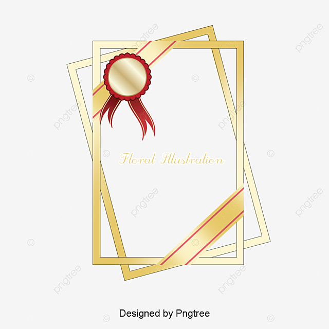 Hall De La Fama, Certificado, Golden, Marco, Medal, Honor, Honor ...