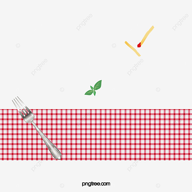 Red Plaid Table Cloth, Tablecloth, Red, Fork PNG Image And Clipart