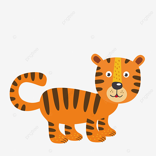 Cartoon tiger cartoon vector tiger vector tiger clipart png and vector for free download - Image dessin tigre ...