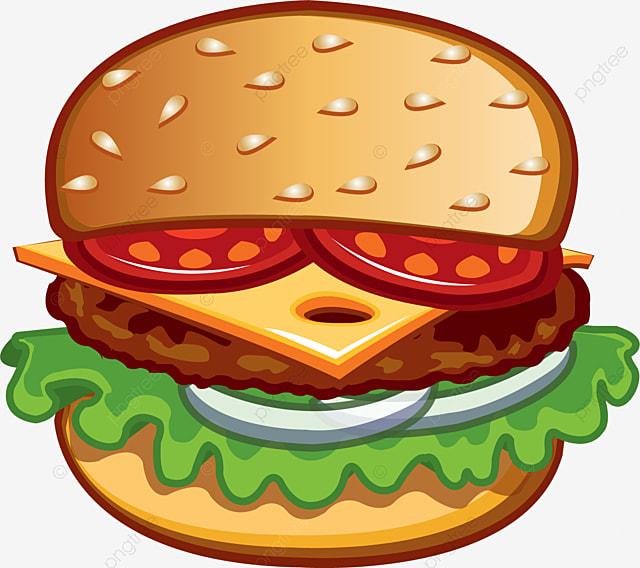 layered burger burger clipart hamburger western png
