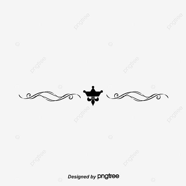 crown decorative lines dividing lines imperial crown line