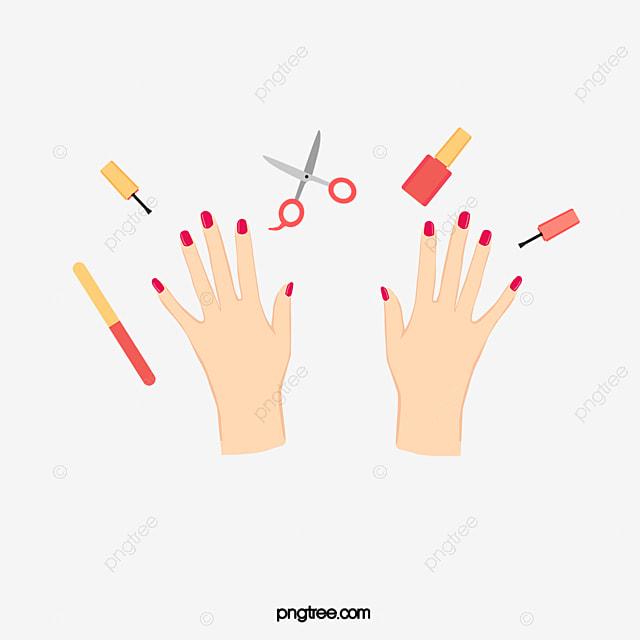 painted fingernails nail polish nail cartoon png image