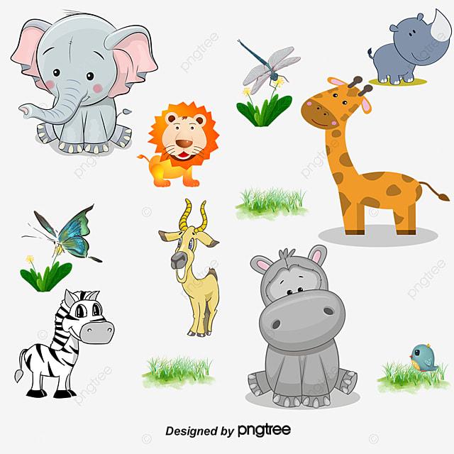 cartoon animals big eyes vector cartoon vector animals vector big rh pngtree com Animals Big Eyed Baby Funny Big Eyed Animals