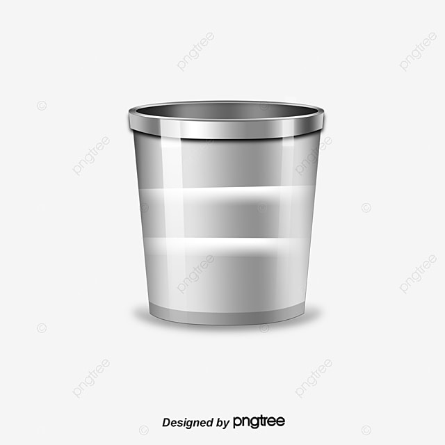 Silver Trash Can With A Lid Clipart Png Image