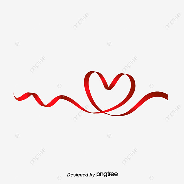 Happy Valentine S Day Love Red Ribbon Love Clipart Valentine S Day