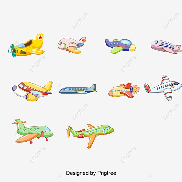 Vector Cartoon Avión De Juguete, Cartoon Airplane, Juguetes De ...