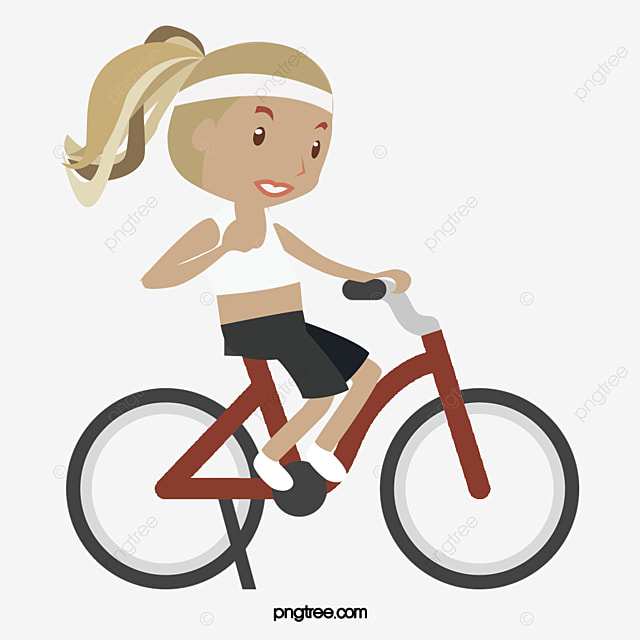 Cycling Woman, Cycling Vector, Woman Vector, Woman Clipart ...