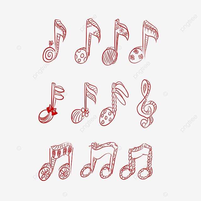 Musical Note Background Music Background Notes Floating Note Png