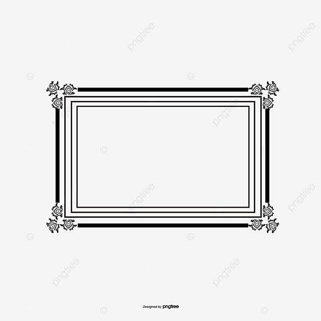 El Elegante Marco Negro Rayas Vector Material Elegante Creativo