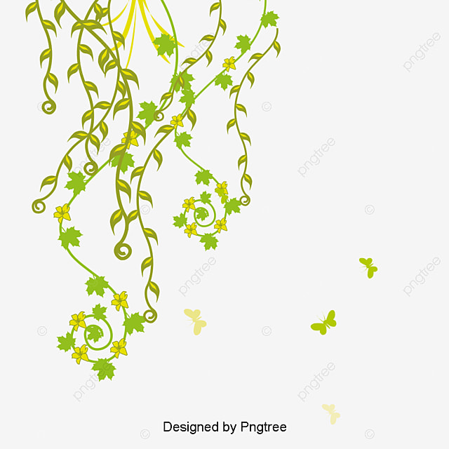 Green Butterfly Pattern Green Leaves Leaves Flower Vine PNG And Extraordinary Green Pattern