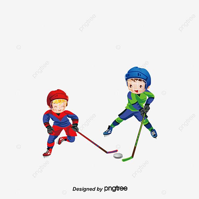 deux gar u00e7ons jouer au hockey palet de hockey mouvement