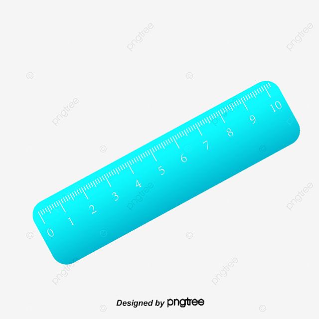 Blue Cartoon Ruler Png Material Hand Painted Cartoon