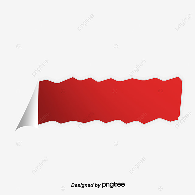 red tear effect red tear marks torn paper vector material png and rh pngtree com torn paper vector psd torn paper vector psd