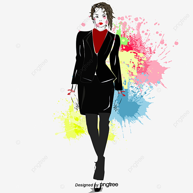 95ac69b27 Moda Mulher A Mulher Modelo Moda PNG e vetor para download gratuito