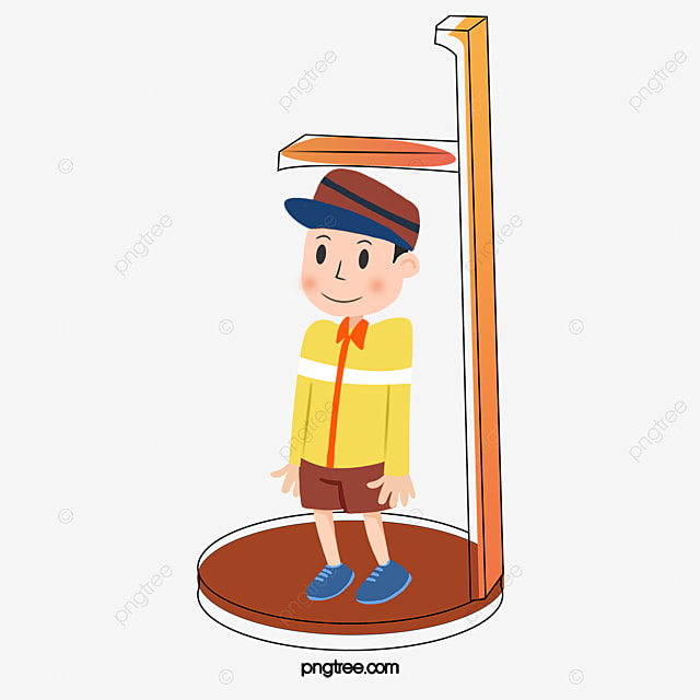 Measuring Weight Cartoon Measuring Height Of Bo...