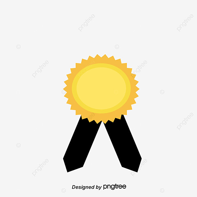 Vector Creative Flat Star Trophy Material PNG And