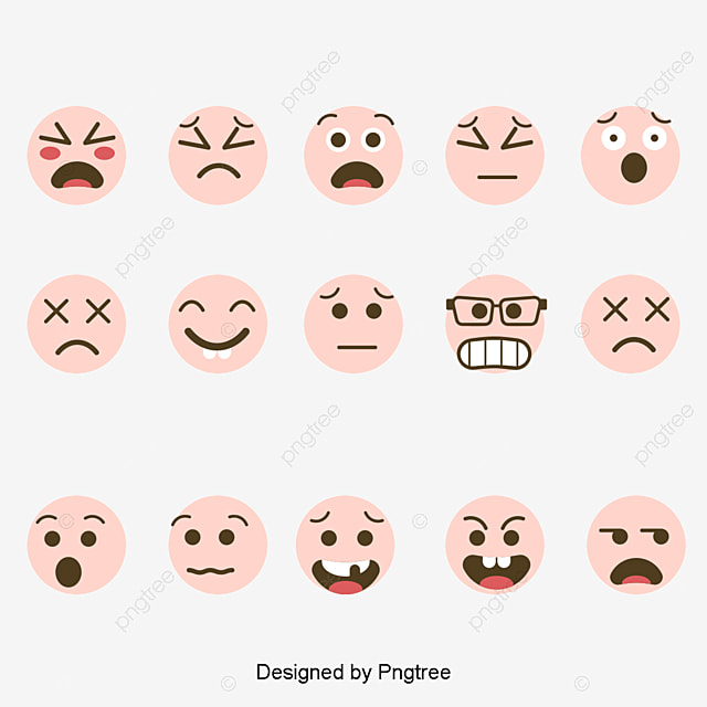Vector Yellow Emoticons Yellow Expression Symbol Png And Vector