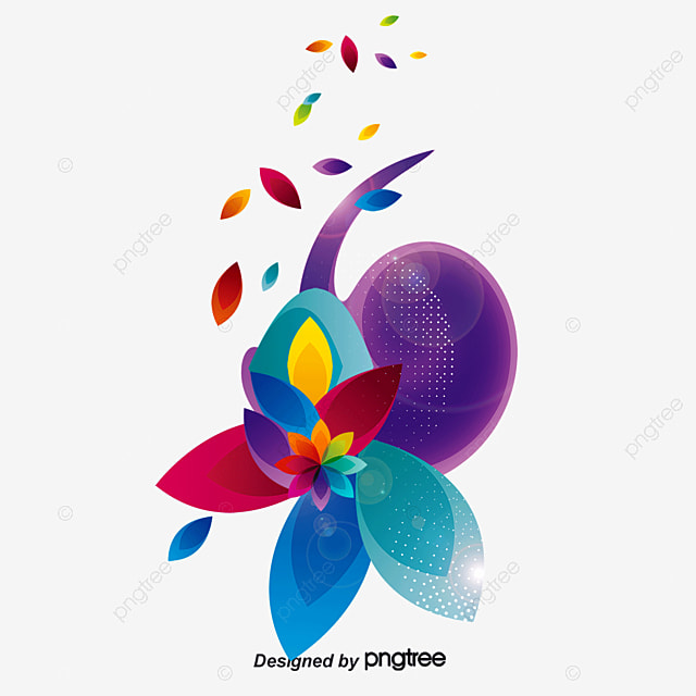 Colorful Floral Design Decorative Background Vector Colorful