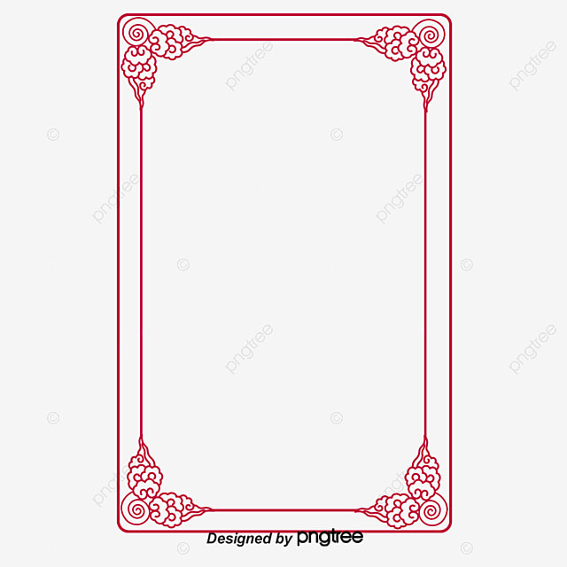 Chinese New Year Festive New Year Good Luck Border Joyous Frame