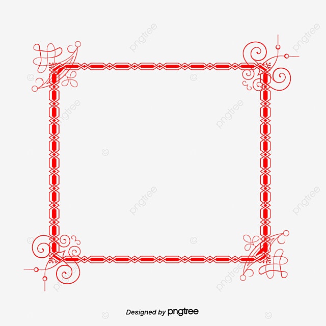 simple red border border vector wireframes material