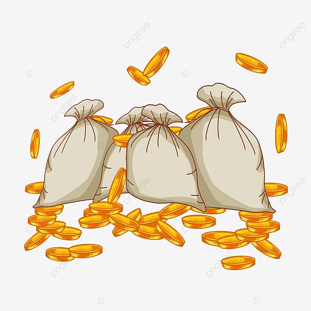 l argent de sacs de mat u00e9riau vecteur de l argent de poche
