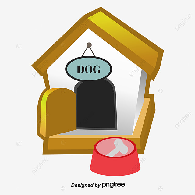 Cartoon dog house doghouse pet building png and vector for Building a dog kennel business