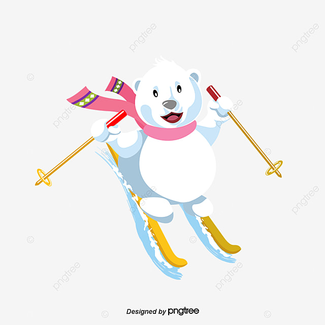 ski bear bear animal ski and vector for free download Cartoon Winter Hat ski bear bear animal ski and vector