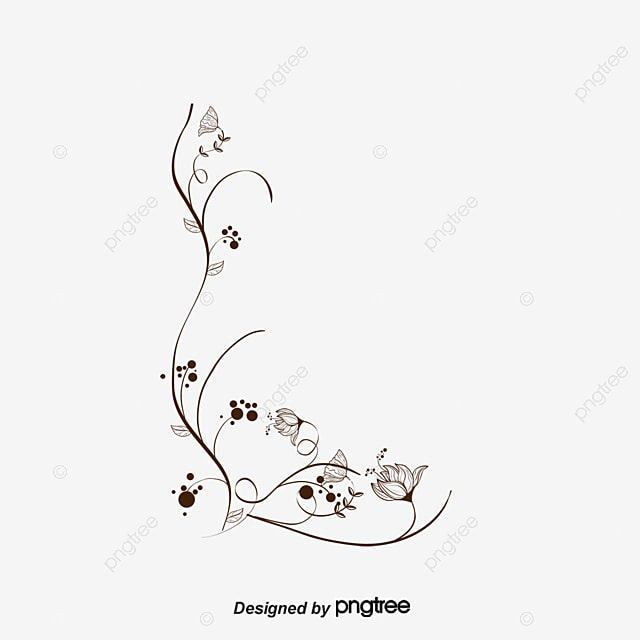 Black And White Floral Decorative Background Vector Black Vector