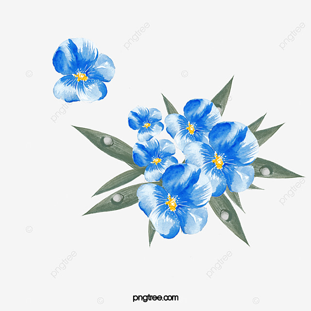 Blue Flower Decoration Flower Clipart Blue Flowers Png Image And