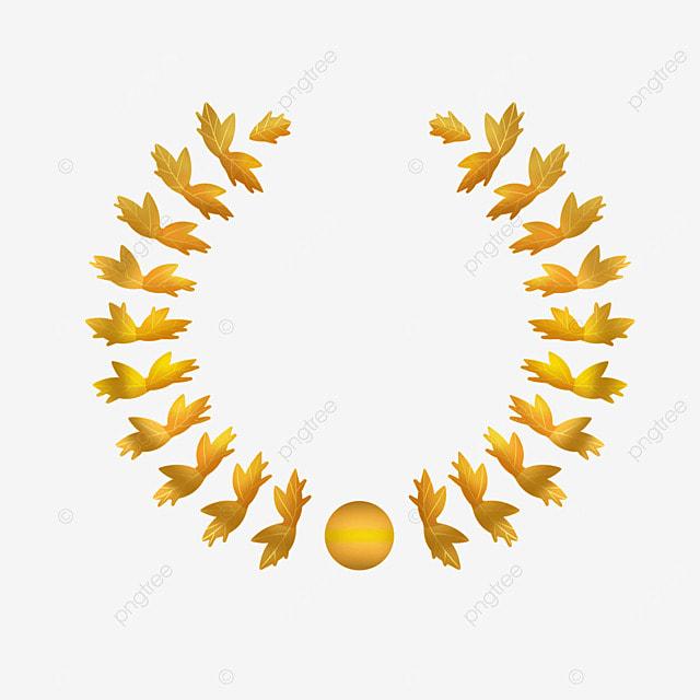laurel leaf crown template - laurel border cinnamon golden festival png image and