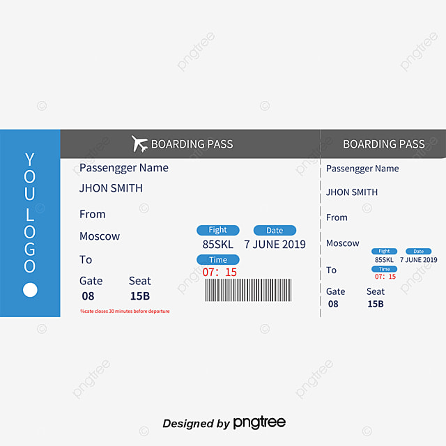 87+ American Airlines Boarding Pass Template - Clipart ...